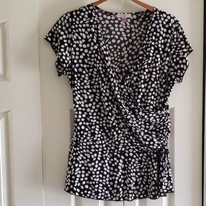 Roz & Ali L Polka Dot Top